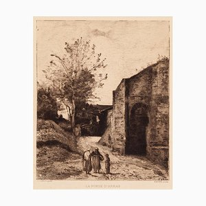Jean-Baptiste-Camille Corot, La Porte D'arras, Original Etching, 1870