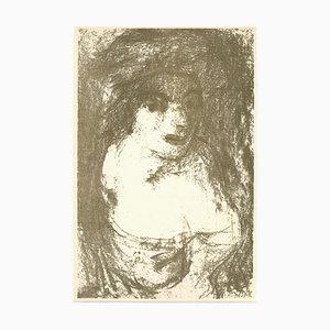 Aligi Sassu, Porträt, Originale Lithographie, 1946