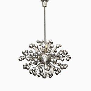 Vintage Italian Chromed Steel Sputnik Ceiling Lamp from Valenti Luce, 1970s