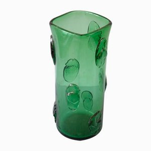 Vintage German Emerald Glass Vase
