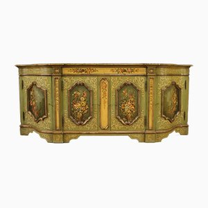 Italian Sideboard In Lacquered, Gilded and Painted Wood