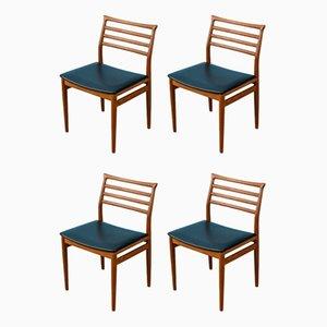 Sedie da pranzo di Erling Torvits per Sorø Stolefabrik, anni '60, set di 4