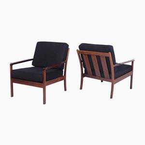 Mid-Century Danish Rosewood Armchairs, 1960s, Set of 2