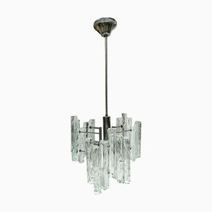 Ice Glass Chandelier by J. T. Kalmar for Kalmar, 1970s