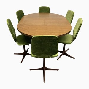 Mid-Century Dining Room Set with Extendable Table & Chairs by Horst Brüning for Cor, Set of 7