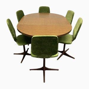 Mid-Century Esszimmer Set mit ausziehbarem Tisch & Stühlen von Horst Brüning für Cor, 7er Set