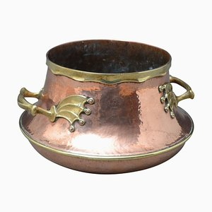 Large Victorian Copper and Brass Vessel