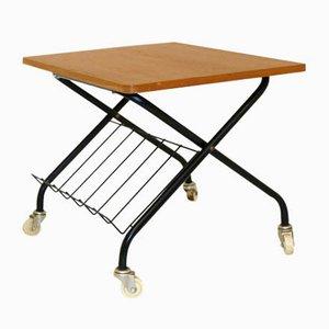 Stringbord Teak & Metal Side Table, 1960s