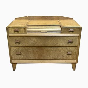 English Blonde Oak Chest of Drawers, 1970s