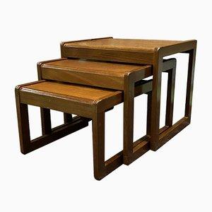 Teak Nesting Tables, 1970s, Set of 3