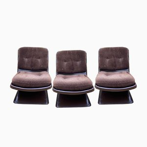 Fireside Lounge Chairs by Albert Jacob for Grofilex, 1970s, Set of 3