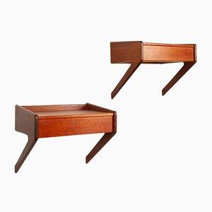 Danish Modern Floating Teak Shelves by Ølholm, 1960s, Set of 2