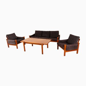Teak Living Room Set by Arne Vodder for Cado, 1970s
