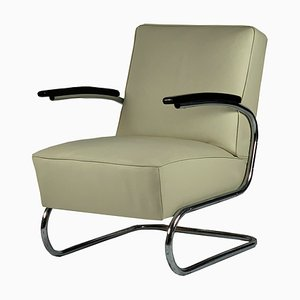 Vintage Bauhaus Model S411 Steel Tube Chair from Thonet, 1930s