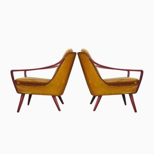 Italian Lounge Chairs, 1950s, Set of 2