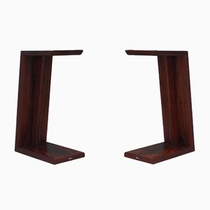 Danish Rosewood Column Stands from Dynaudio, 1990s, Set of 2