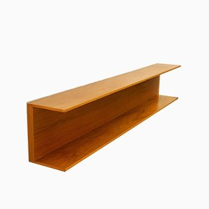 Mid-Century Modern Teak Wall-Mounted Shelf by Walter Wirz for Wilhelm Renz, 1960s