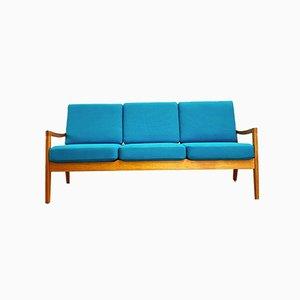 Dänisches Mid-Century Modern Teak Sofa von Ole Wanscher für Poul Jeppenssens Møbelfabrik, Denmark, 1970er