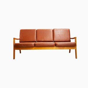 Mid-Century Danish Modern Teak Sofa by Ole Wanscher für Poul Jeppensens Møbelfabrik, Denmark, 1970s