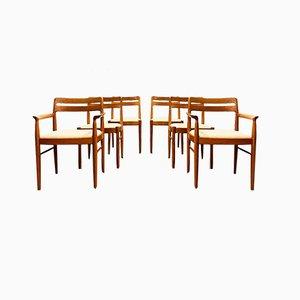 Mid-Century Danish Modern Teak Chairs by H.W. Klein for Bramin, Denmark, 1960, Set of 6
