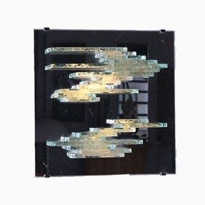 Modell C 1715 Broken Relief Wandlampe von Willem van Oyen für Raak Amsterdam, 1968