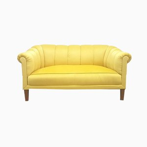 Austrian Sofa in Golden Velvet, 1930s