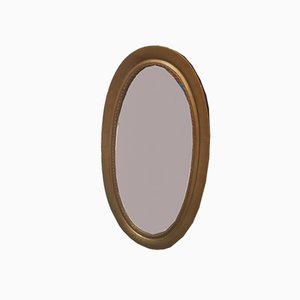 Antique Large Oval Rustic Mirror, 1920s