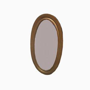 Specchio rustico antico grande ovale, anni '20