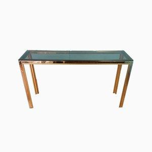 Chrome Console Table by Renato Zevi for Romeo Rega, 1970s