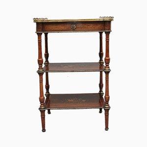 19th-Century Mahogany and Inlaid Three Tier Table