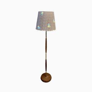 Scandinavian Teak Floor Lamp, 1950s