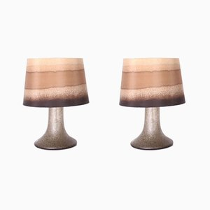 Blown Glass Table Lamps, 1970s, Set of 2