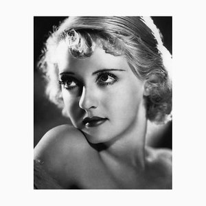 Bette Davis Eyes Archival Pigment Print Framed in Black by Alamy Archives