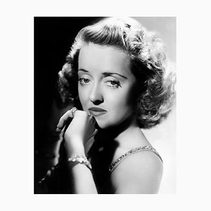 Wistful Bette Archival Pigment Print Framed in Black by Everett Collection