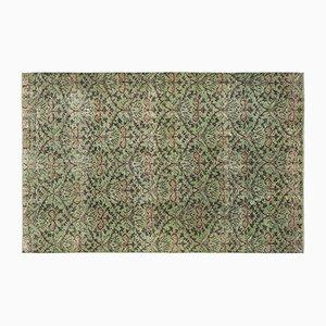 Türkischer Vintage Teppich in Grün