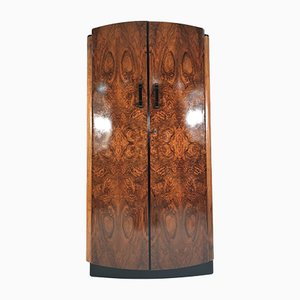 Vintage Walnut Veneer Wardrobe by Jindřich Halabala for UP Závody, 1950s