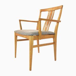 Mid-Century Swedish Oak & Kvadrat Upholstery Armchair, 1960s