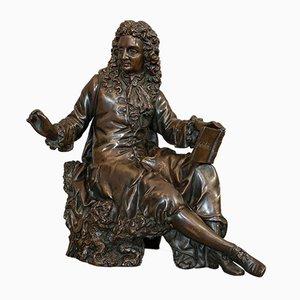 Figura francesa antigua de bronce de Fontaine según Ernest Rancoulet, 1920