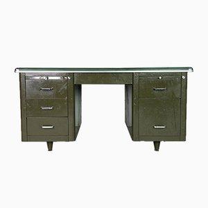 Industrieller Vintage Doppelsockel Schreibtisch, 1930er