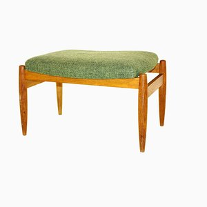 Swedish Oak Ottoman, 1960s