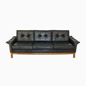 Swedish Leather Sofa, 1960s