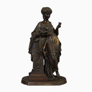 Figura francesa Art Nouveau antigua de bronce de Moreau, 1920