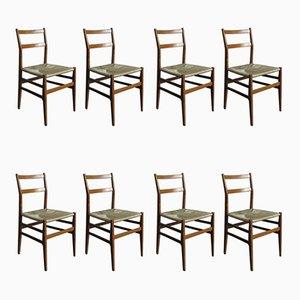 Chaises de Salle à Manger Modèle Leggara par Gio Ponti pour Cassina, 1950s, Set de 8