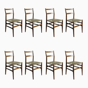 Model Leggara Dining Chairs by Gio Ponti for Cassina, 1950s, Set of 8