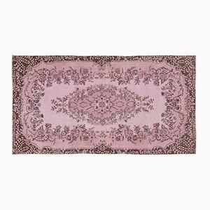 Tappeto vintage floreale rosa scolorito, Turchia