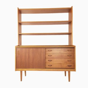 Mid-Century Danish Teak and Oak Bookshelf with Removable Drawers and Desk, 1960s