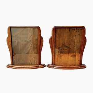 Art Deco Wooden Photo Frames, Set of 2