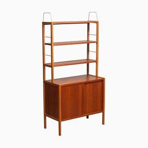 Teak and Brass Bookcase by Bertil Gottfrid Hagen for Bodafors, Sweden, 1960s