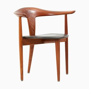 Chair in Teak & Leather by Erik Andersen & Palle Pedersen for Randers, Denmark 1960s