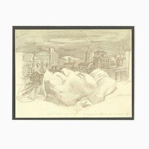 Giovanni Ioppolo - Alfonso Bartoli - Original Pencil on Paper by Giovanni Ioppolo - 20th Century